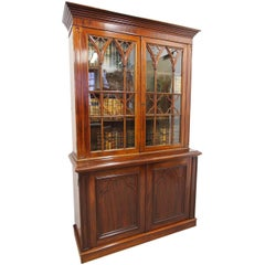 Gothic Style Mahogany Cabinet Bookcase