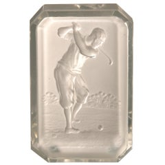 Baccarat Golf Glass Pin Tray