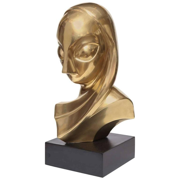 Sculpture, Brass, of a Woman's Head 1