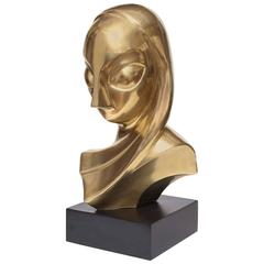Sculpture, Brass, of a Woman's Head