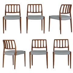 Set of Six Mid-Century Modern Niels Otto Moller Dining Room Chairs