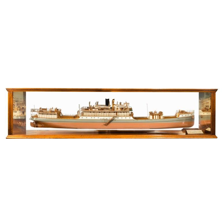 Cased Ship's Boardroom Model of Three Sister Ships