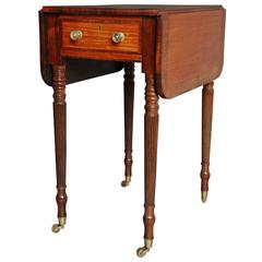 Early 19th Century, Satinwood Drop-Leaf Table of Small Proportions