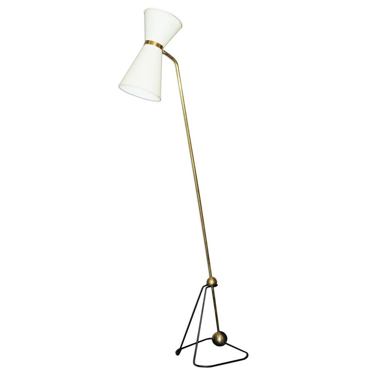 Rare Floor Lamp, Model of Pierre Guariche, 1970