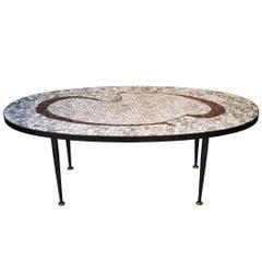 Vitrified Tesserae Coffee Table, Italy, 1960