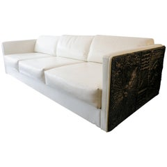 Adrian Pearsall Brutalist Club Tuxedo Sofa Craft Associates