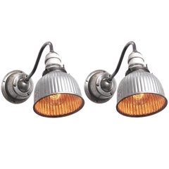Permaflector Sconces with Rare Swivel Wall Mounts