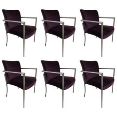 Set of 6 Cortona Guest Staking Chairs by Joe Ricchio for HBF