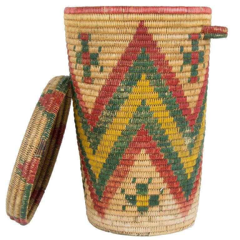 Jicarilla Apache Waste Basket