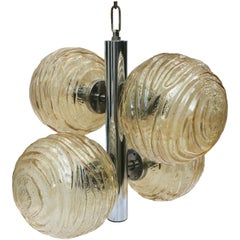 Glass Swirl Ball Pendant Light by Doria Lighting Company
