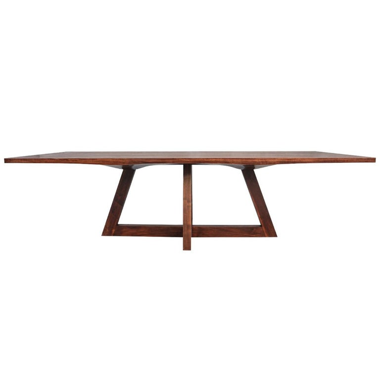 """Contemporary """"Bondi"""" Dining Table in Carved Walnut"""