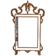 Venetian Style Mirror Gilded Wood Decor Rococo