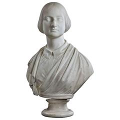 Mid-19th Century Bust of a Young Female