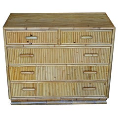 Mid-Century Modern Bamboo Dresser / Chest of Drawers