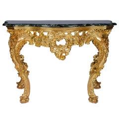19th Century Rococo Revival Console Table