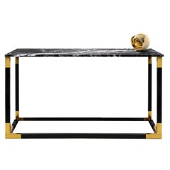 Contemporary Keflavik Console in Marble, Brass