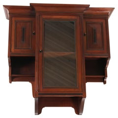 Mahogany Art Deco Amsterdam School Wall Cabinet by 't Woonhuys Amsterdam, 1920s