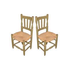 Set of 12 Spanish Bodega Chairs
