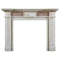 Antique English Neoclassical Fireplace Mantel