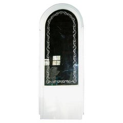 French Etched Arched Mirror