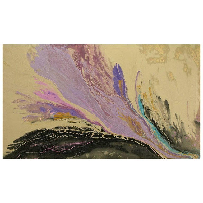 """Christine Alfery Acrylic Abstract, """"Born by the Sea"""" For Sale"""
