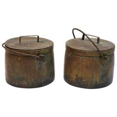 Two 19th Century Copper Cooking Pots