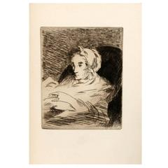 """Manet"" First Edition, with Two Original Etchings"