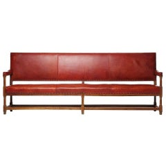 Long Oak Bench in Original Leather