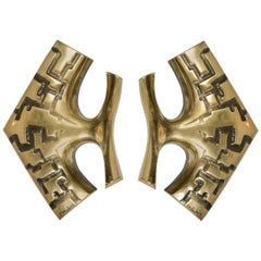 Pair of 1970s Sconces by Peter Martens