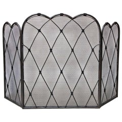 Trefoil Folding Fire Screen