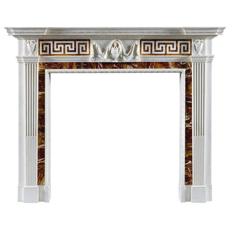 superb antique george iii style statuary marble fireplace
