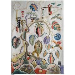 Jambala Wool Tapestry by Kazumi Yoshida