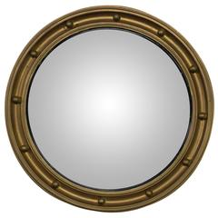 Late 19th Century Small Convex Mirror in Painted Wood Frame