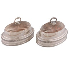 Pair of English Silver Domes