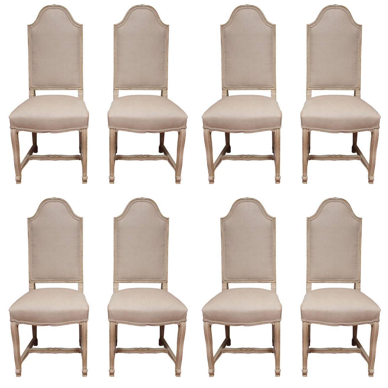 set of eight dining room chairs at 1stdibs