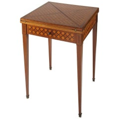 19th Century Paris Game Table with Envelop Top