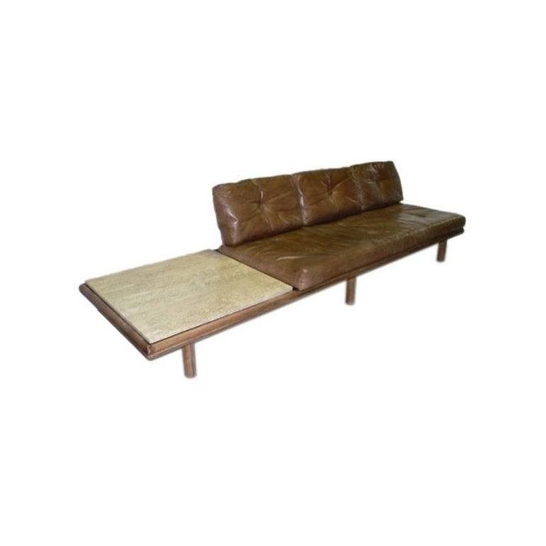 Vintage Leather Sofa by Franz Köttgen for Kill International For Sale