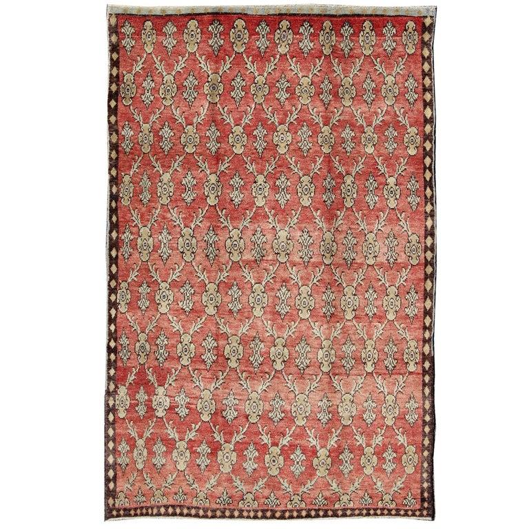 Vintage Turkish Tulu Rug