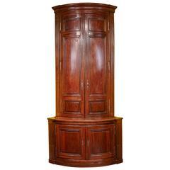 Monumental 18th Century Louis XVI Walnut Corner Cabinet