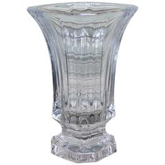 Mid-Century French Crystal Glass Vase