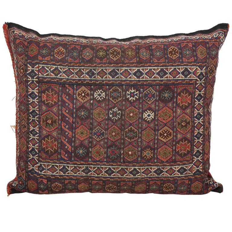 Turkish Kilim Floor Pillow : Turkish Tribal Kilim Floor Pillow at 1stdibs