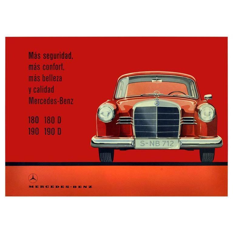 Rare original vintage mercedes benz model 180 190 luxury for Mercedes benz 180d for sale