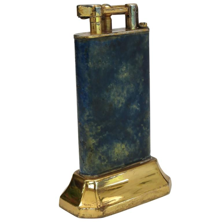 Aged Lift Arm Table Lighter by Dunhill