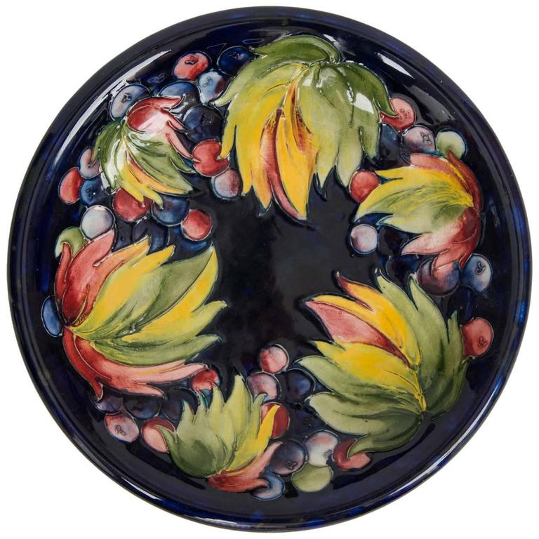 Rare 1934 William Moorcroft Pottery Vase Freesia Pattern
