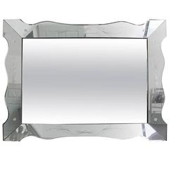 Venetian Style Mirror with Glass Etching
