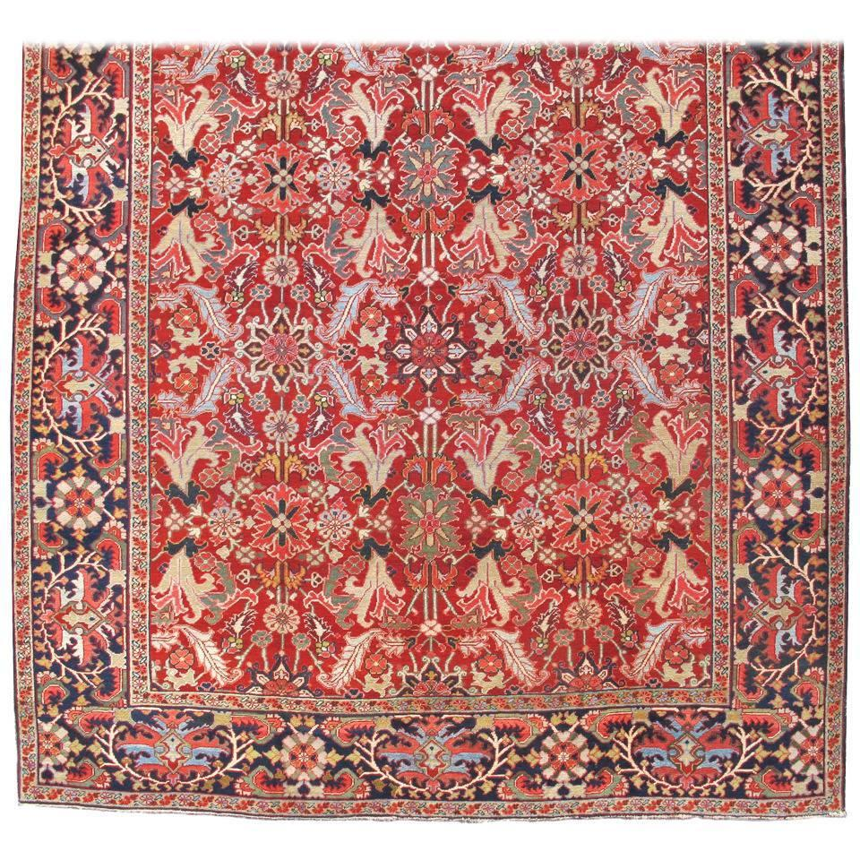 Jewel-Toned Heriz Carpet At 1stdibs