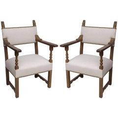 Pair of Mizner Style Armchairs