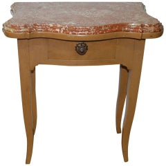 French 19th Century Marble-Top Bedside Table