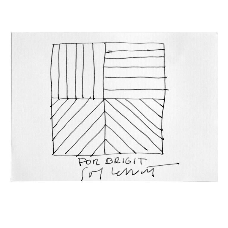 Ink Drawing by Sol LeWitt, circa 2000