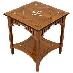 19th Century American Craftsman Walnut Side Table